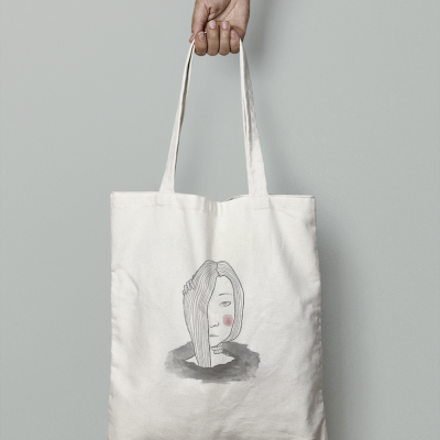 Tote Bag Double Project Colección Mujer - Mujer sumergida 2