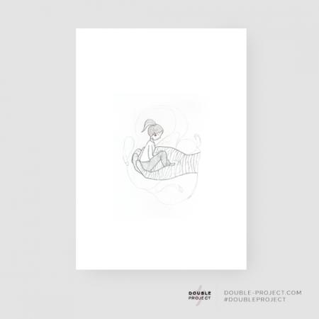 Lámina mujer en mano - Double Project