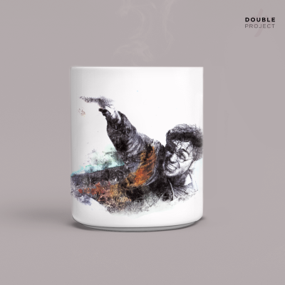 Taza Harry Potter luchando | Double Project