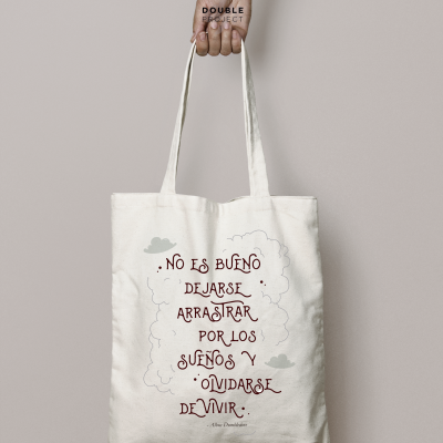Tote Bag Frase Dumbledore 2 double project