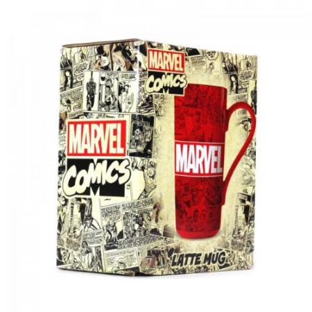 Taza Latte-Macchiato Marvel Logo | Double Project