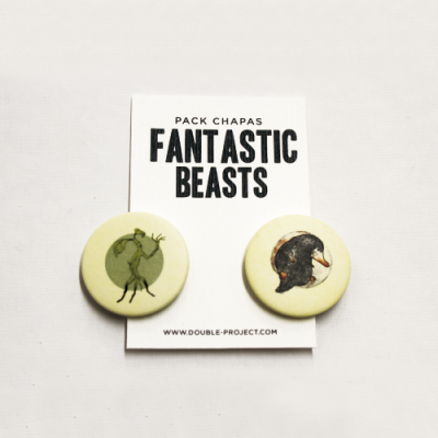 Pack Chapas Fantastic Beasts - Double Project