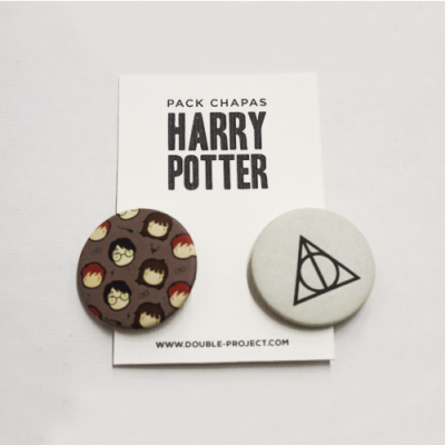 Pack Chapas Harry Potter 2 - Double Project