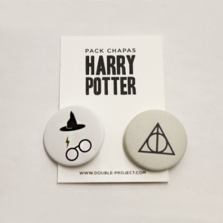 Pack Chapas Harry Potter 3 - Double Project
