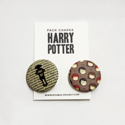Pack Chapas Harry Potter - Double Project