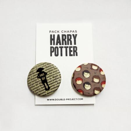 Pack Chapas Harry Potter - Double Project