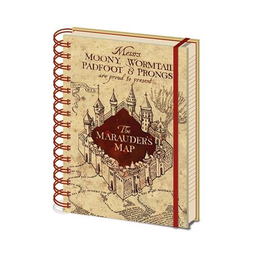 Libreta Mapa Del Merodeador A5 Harry Potter