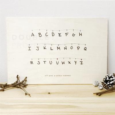 Lámina Madera Abecedario Stranger Things - Double Project