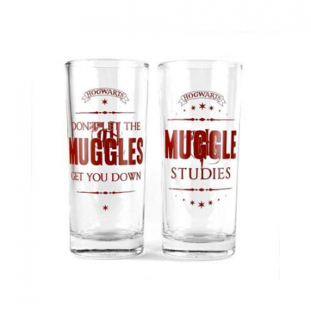 Pack 2 Vasos Muggles Harry Potter - Double Project