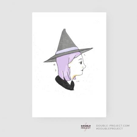 Lámina Bruja Colección Halloween - Double Project