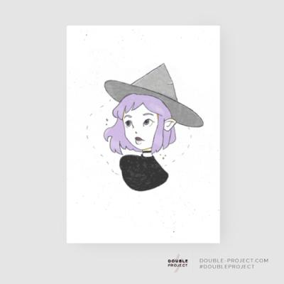 Lámina Brujita Colección Halloween - Double Project