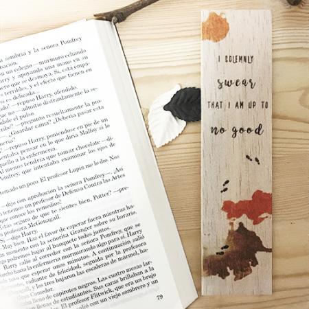 Punto de libro de madera I solemnly swear - Double Project