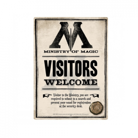 Placa Señal Ministry of magic - Double Project