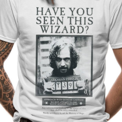 Camiseta Sirius Black Harry Potter - Double Project
