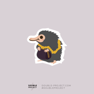Sticker Escarbato Individual Fantastic Beasts - Double Project