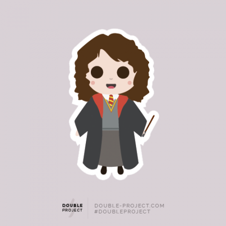 Sticker Hermione Granger - Double Project
