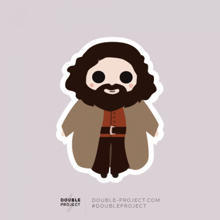 Sticker Hagrid Individual - Double Project