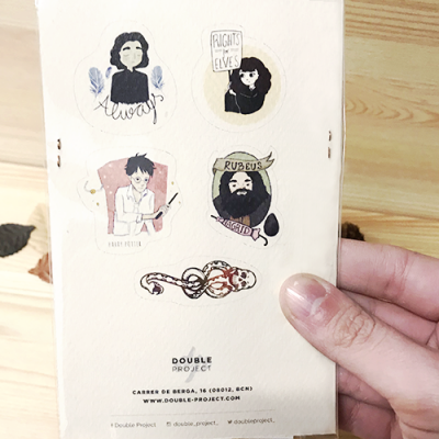 Pack stickers Harry Potter ilustraciones - Double Project