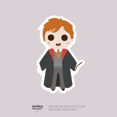 Sticker Ron Weasley Individual - Double Project