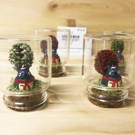 Montaje cristal Totoro Navidad - Double Project