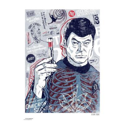 Póster Litografía Star Trek McCoys Bones - Double Project