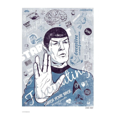 Póster Litografía Star Trek Spock - Double Project