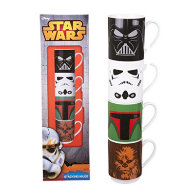 Star Wars Set de 4 Tazas Vader, Boba Fett, Stormtrooper y Chewbacca - Double Project