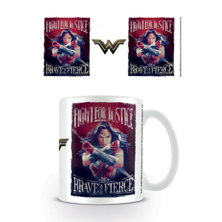 Taza Wonder Woman Fight - Double Project