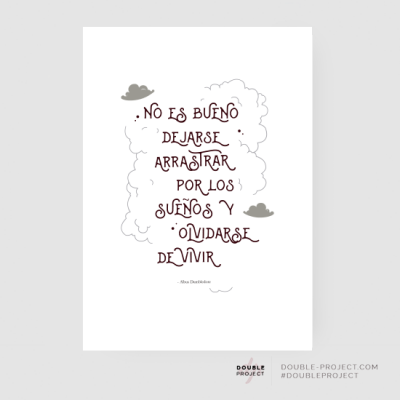 Lámina frase Dumbledore Harry - Double Project