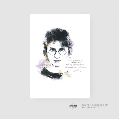Lámina Harry Potter Frase | Double Project