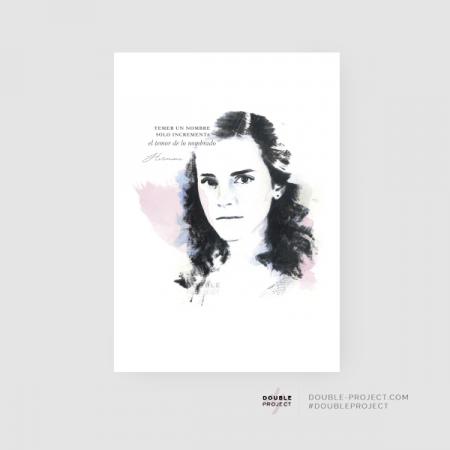Lámina Hermione Granger Frase | Double Project