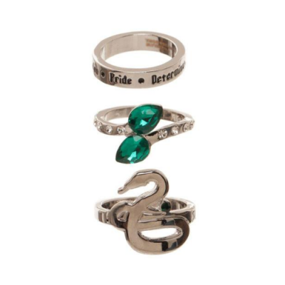 Harry Potter Set de 3 Anillos Slytherin - Double Project