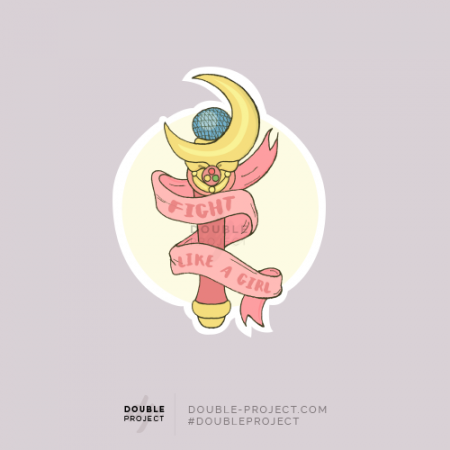 Sticker Fight like a Girl Sailor Moon - Double Project