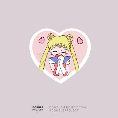 Sticker Bunny Sailor Moon Love - Double Project