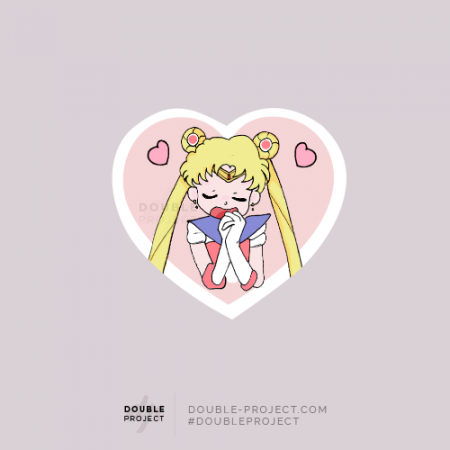 Sticker Bunny Sailor Moon Love - Double Project