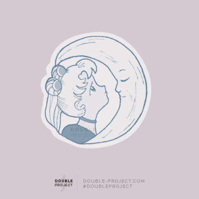 Sticker Sailor Moon Luna mirada - Double Project