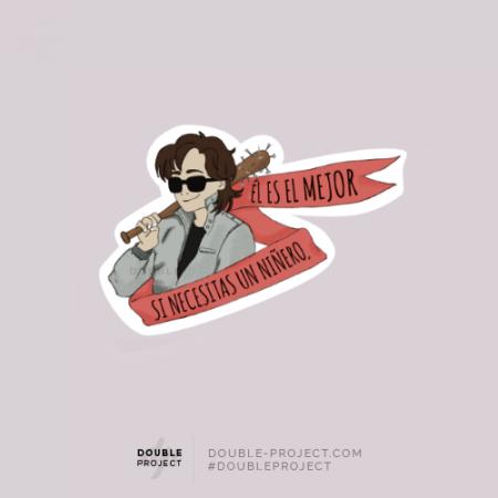 Sticker Steve si necesitas un niñero - Double Project
