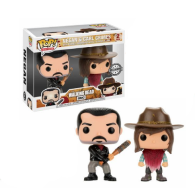 POP Pack The Walking Dead Negan & Carl Grimes - Double Project