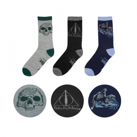 Pack 3 calcetines Deathly Hallows Harry Potter - Double Project