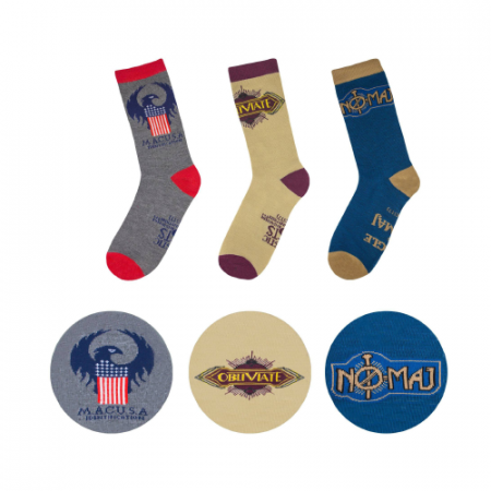 Pack 3 calcetines Macusa Fantastic Beasts - Double Project