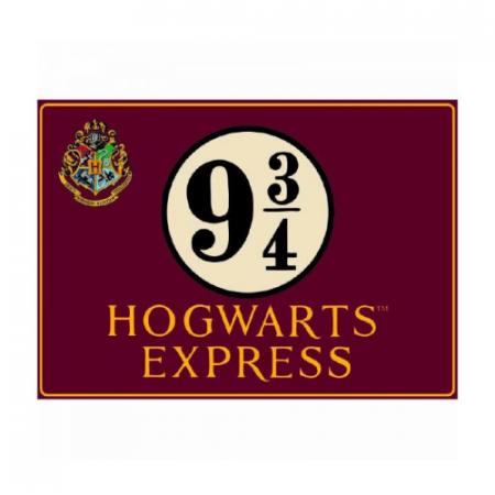 Placa Chapa Hogwarts Express 9 3/4 Harry Potter - Double Project