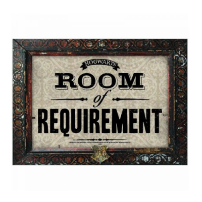 Placa Chapa Room of Requirement Harry Potter - Double Project