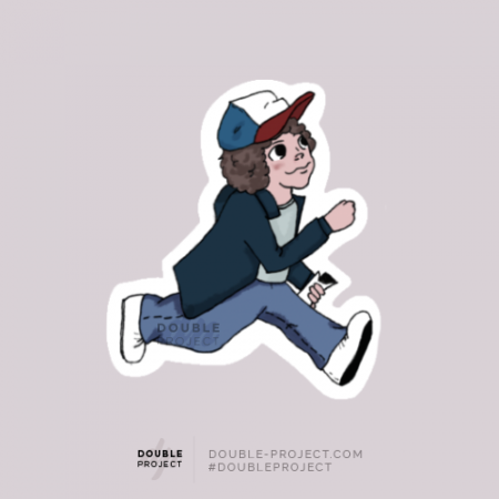 Sticker Dustin Corriendo | Double Project