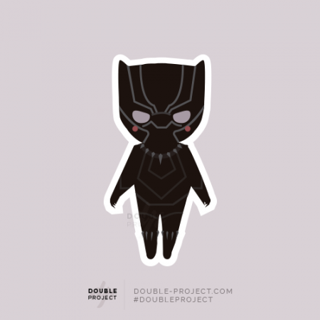 Sticker Black Panther | Double Project