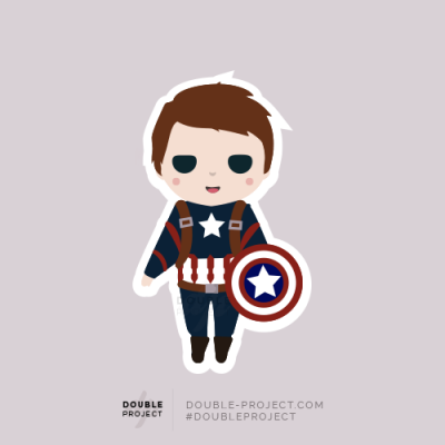 Sticker Captain America | Double Project