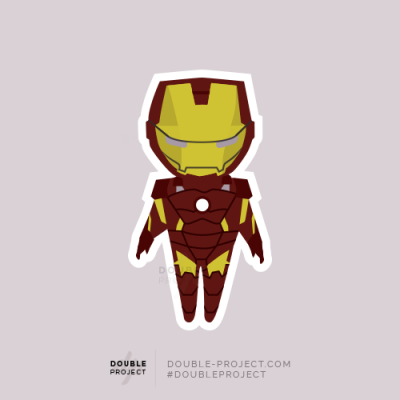Sticker Iron Man | Double Project