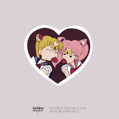Sticker Sailor Moon con Chibi - Double Project