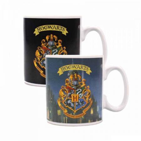 Harry Potter taza sensitiva al calor Hogwarts emblema - Double Project