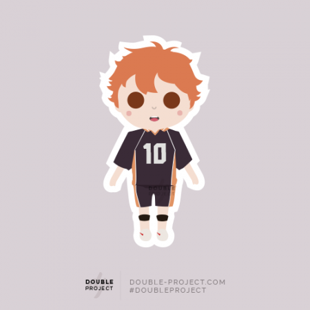 Sticker Haikyuu! Hinata Shōyō | Double Project