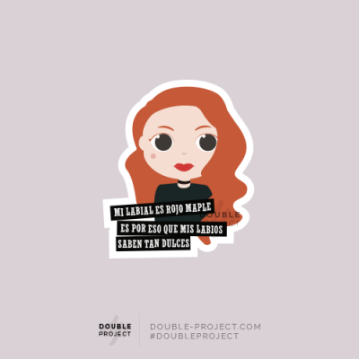 "Sticker Cheryl ""Mis labial.."" 
